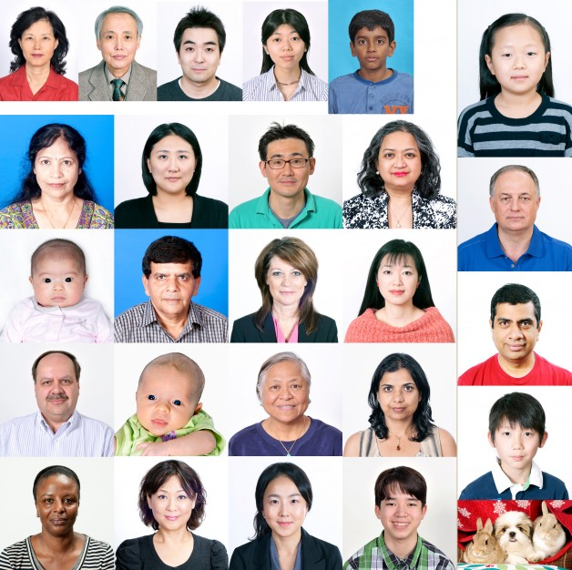 ID photo Samples for all nations (Canada,Japan,India,Korea,USA etc..